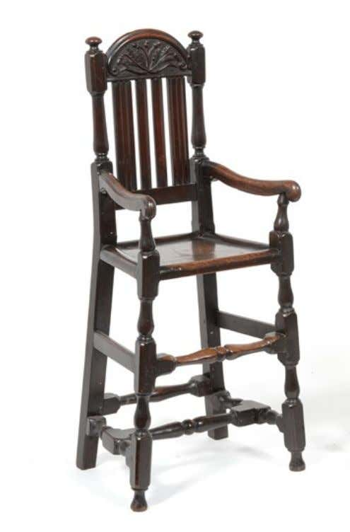 English Oak High Chair Late 17th Century (Tennants Auctioneers)