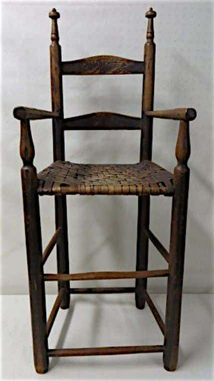 American Ladder Back High Chair 18th Century (Hyde Park Country Auctions)