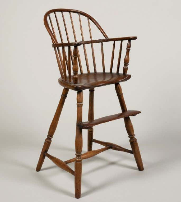 American Windsor High Chair c. 1780 - 1790 (Mount Vernon)
