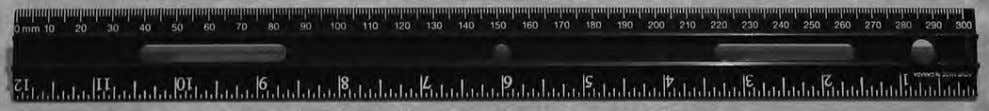 • Pencil • Paper • Small objects • Calculator Look at the ruler in the picture