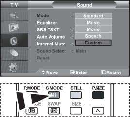 O O O O O X X Changing the Sound Standard You can also select these