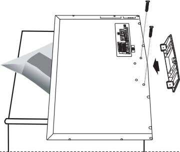 size of 40 inch and above. Installing the Wall mount Kit Wall mount items (sold separately)