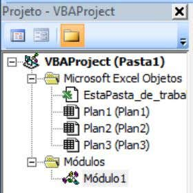 entrando no Editor do Visual Basic no Project Explorer. Conforme mostra a figura acima, o CodeName