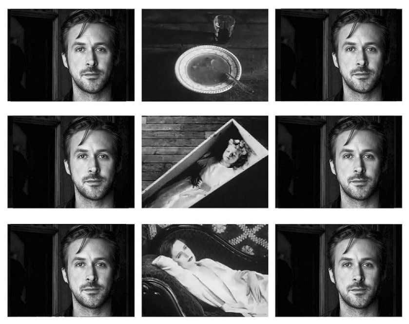 I found this version of the Kuleshov Effect with Ryan Gosling online — it's perfect.