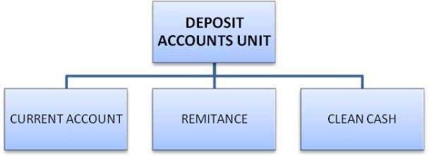 and suggestions for performance improvement of that Unit DIVISIONAL STRUCTURE OF DEPOSIT ACCOUNTS UNIT Page 4