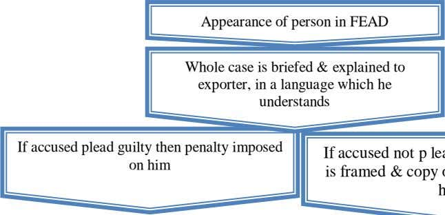 Appearance of person in FEAD Whole case is briefed & explained to exporter, in a