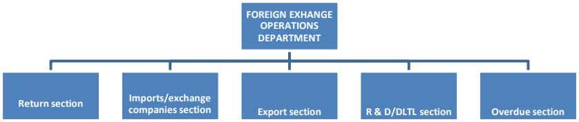FOREIGN EXHANGE OPERATIONS DEPARTMENT Imports/exchange Return section companies section Export section R &