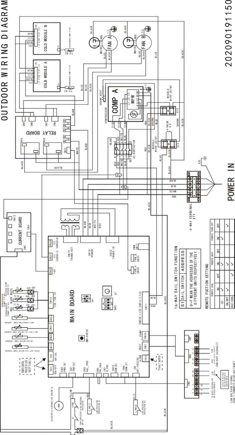 MCAC-ATSM-2013-05 Aqua Tempo Super Series air cooled scroll chiller unit (50Hz) 65kW module Wiring Diagrams 17