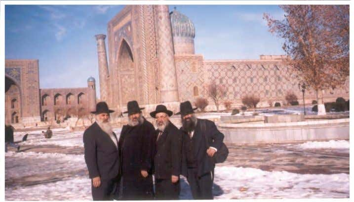OBITUARY The Ladaiov brothers with shluchim in Kazakhstan. R' Yosef Ladaiov is first on the right