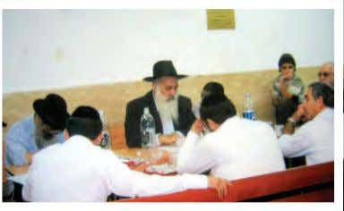 bit. Each time the doctor came, R' Yosef insisted that he R' Yosef giving a shiur