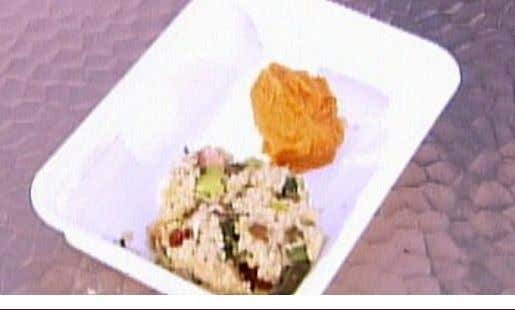 "Andrea's Food on the Fly ""Quick Cooking Quinoa Pilaf & Curried Sweet Potato"" Quinoa Pilaf 1"