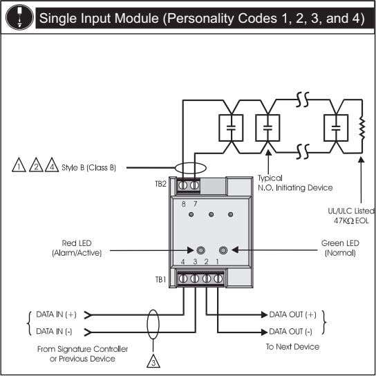 Single Input Module (Personality Codes 1, 2, 3, and 4)