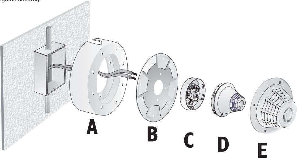 the four tamper-proof bolts provided, and tighten securely. INSTALLATION SHEET: SIGA-DGS Surface Adapter