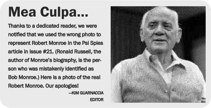 Mea Culpa… Thanks to a dedicated reader, we were notified that we used the wrong