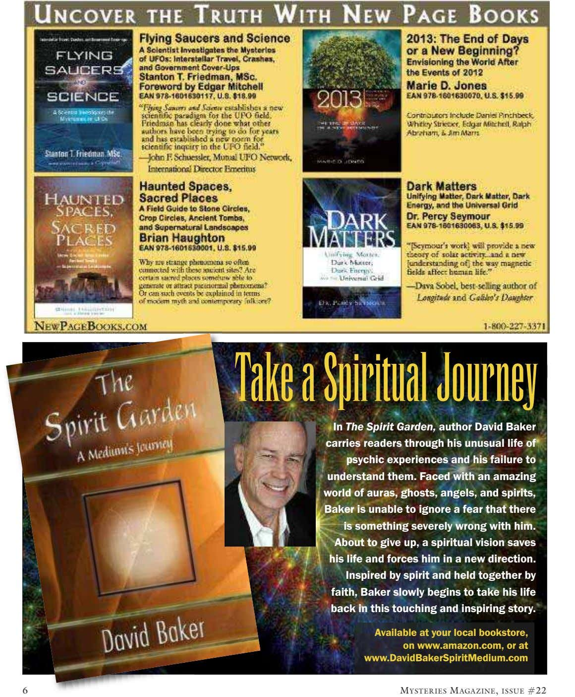 Take a Spiritual Journey In The Spirit Garden, author David Baker carries readers through his