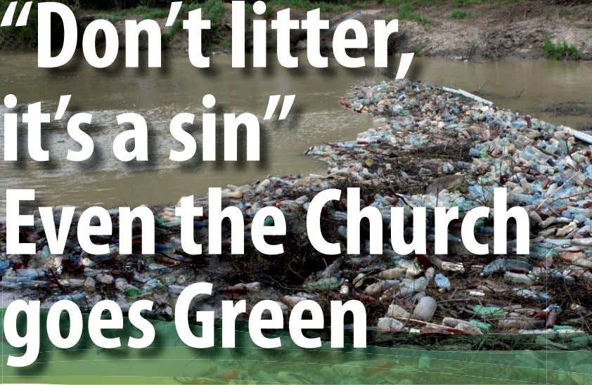 """Don't litter, it's a sin"" Even the Church goes Green"