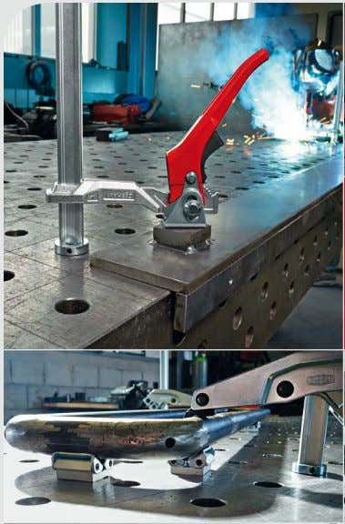 Clamping elements for welding tables TW Clamping specialists