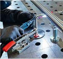 Clamping elements for welding tables TW Clamping specialists promote safe welding Page 68 – 73