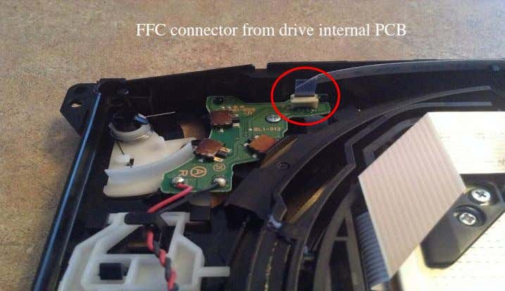 FFC connector from drive internal PCB