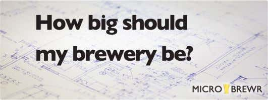 How big should my brewery be? October 5, 2015 / 11 Comments / in Blog