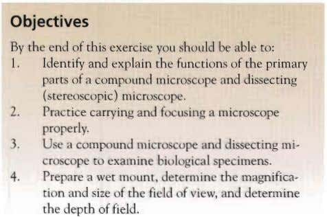 Objectives By the end of this exercise you should be able to: Identify and explain