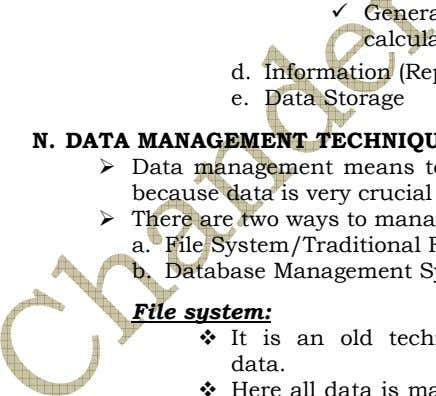 d. e. Data Storage a. b. File system: data.