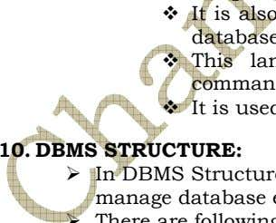 10. DBMS STRUCTURE: