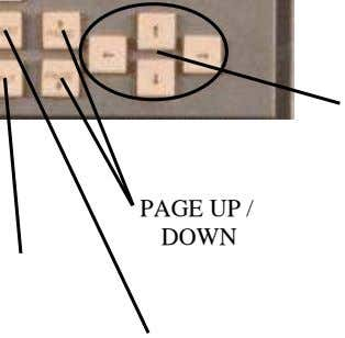 PAGE UP / DOWN