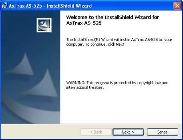 del InstallShield Wizard (Asistente de Instalación). Figura 3: Ventana Welcome to the Install Shield Wizard