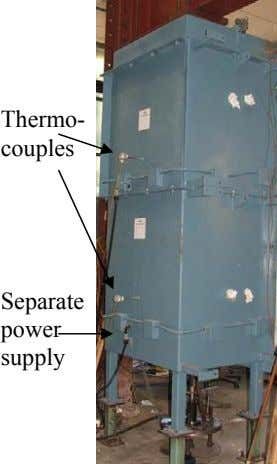 Thermo- couples Separate power supply