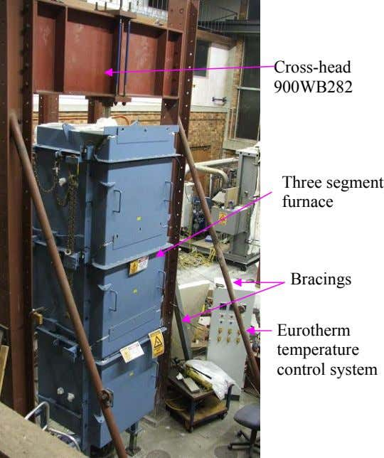 Cross-head 900WB282 Three segment furnace Bracings Eurotherm temperature control system