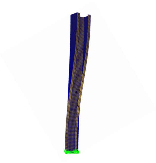 u /N y N Figure 9: Flexural-torsional Buckling of G450-1.9-1800 Column from FEA 1.2 1 EC3