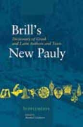 / US$ 353.- • Brill's New Pauly – Supplements, 3 10 • August 2009 • ISBN