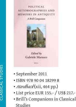 • September 2011 • ISBN 978 90 04 18299 8 • Hardback (xii, 464 pp.)