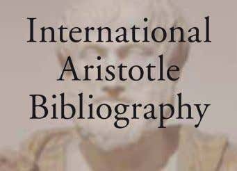 International Aristotle Bibliography