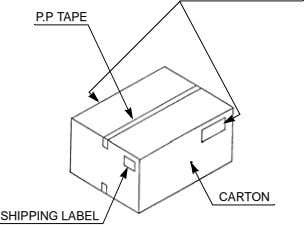 P.P TAPE CARTON SHIPPING LABEL