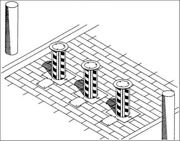to penetrate the barrier. Figure 6-7 Example Bollard System Table 6-3 Performance Data for Example Bollard
