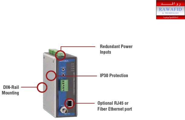 Figure 1 - Moxa VPort series Additionally, industrial video se rver must have a wide
