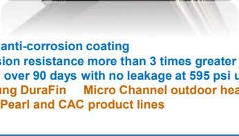 Outdoor Unit Micro Channel Heat Exchanger - DuraFin  Better anti-corrosion coating  Corrosion resistance
