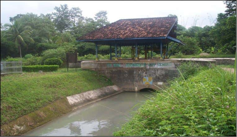 I Lampung Province at the following picture (Figure 18.). Figure 18. Way Semah-1 Weir, in Gedong