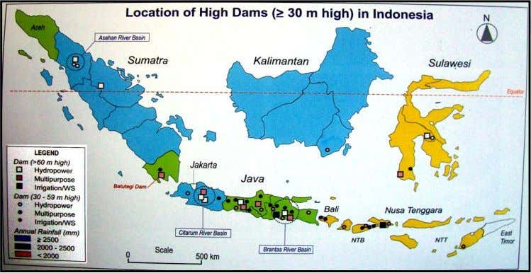 Map of High Dam (higher or equal to 30m high) in Indonesia. Figure 23. Location Map