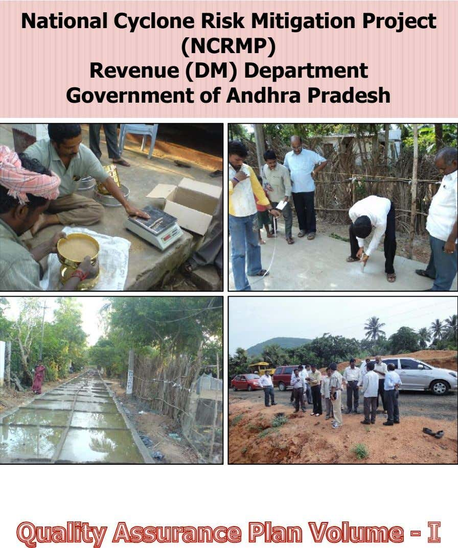 National Cyclone R isk Mitigation Project National Cyclone R isk Mitigation Project (NC RMP) (NC