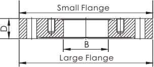Small Flange B Large Flange D