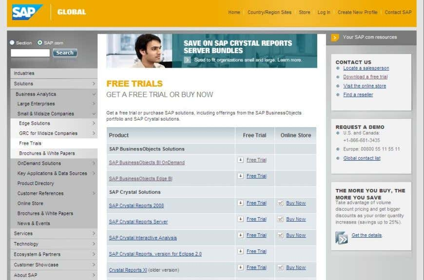 SAP Crystal Reports Access http://www.sap.com/solutions/sapbusinessobjects/sme/freetrials/index.epx