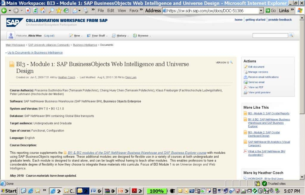 SAP BusinessObjects Web Intelligence & https://cw.sdn.sap.com/cw/docs/DOC-51386 Universe Design