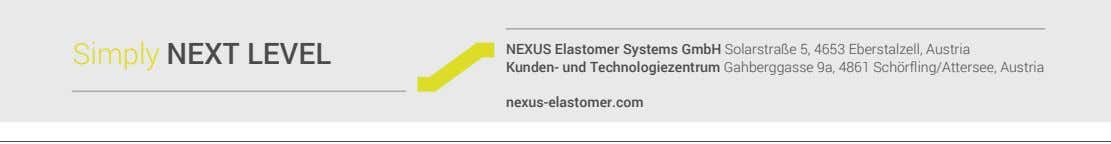 Simply NEXT LEVEL NEXUS Elastomer Systems GmbH Solarstraße 5, 4653 Eberstalzell, Austria Kunden- und Technologiezentrum
