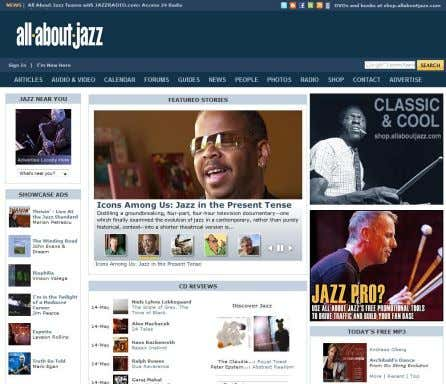 Blogs • Virtual Communities • Social Network Services http://www.allaboutjazz.com/ Virtual Communities • eine
