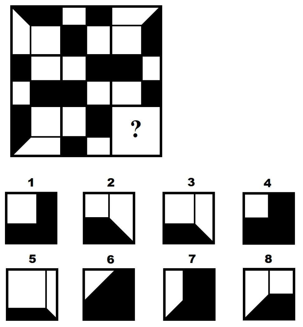 1.0 (M. Ripà, A. Iancarelli) Multiple choice classic items [Abstract Reasoning, Logic, Divergent Thinking, Visual] 1)