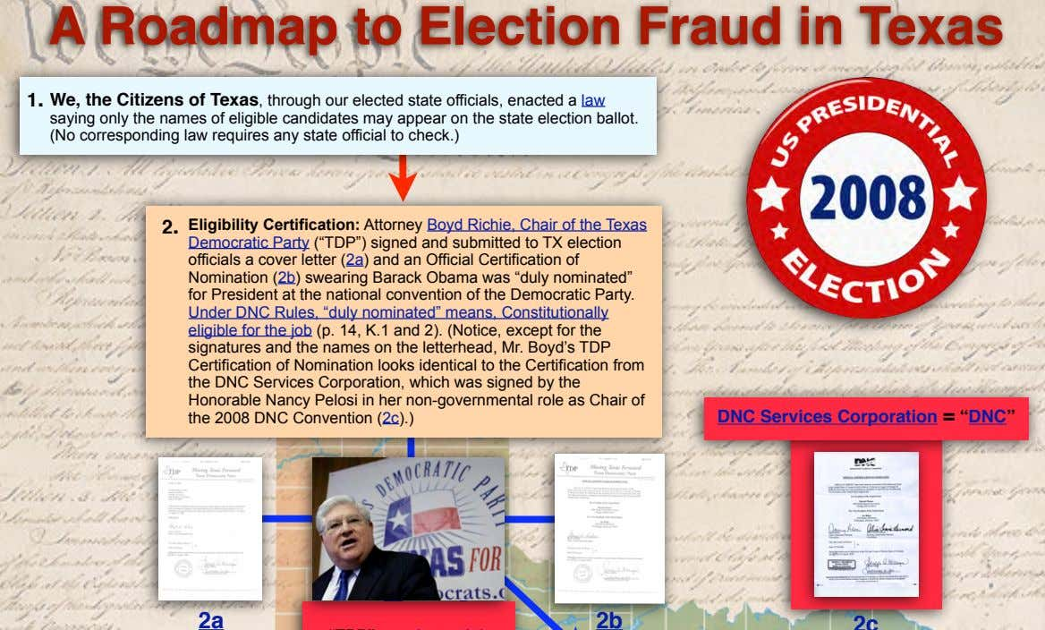 A Roadmap to Election Fraud in Texas 1. We, the Citizens of Texas, through our