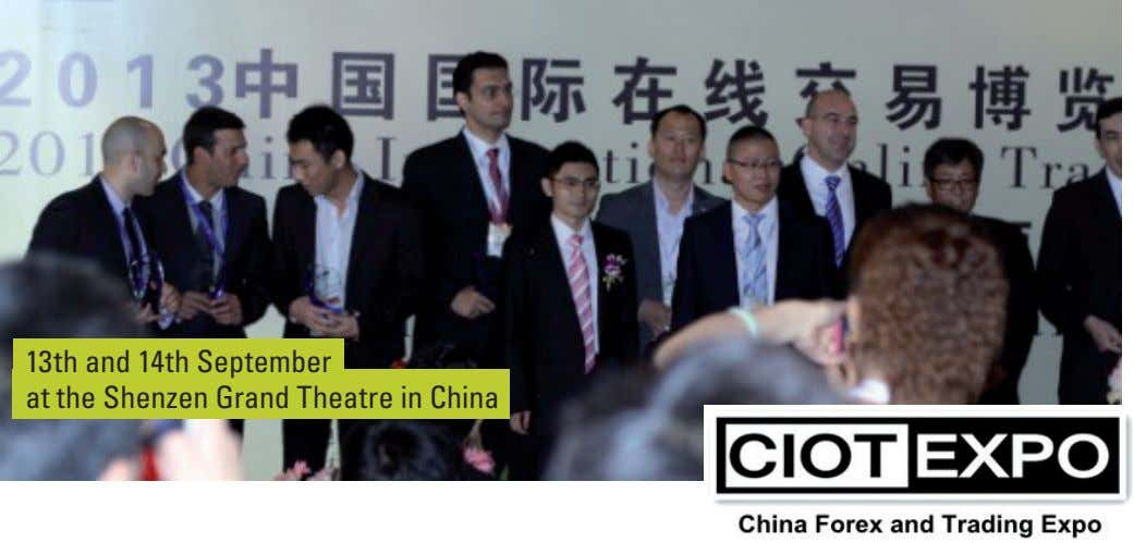 13th and 14th September at the Shenzen Grand Theatre in China